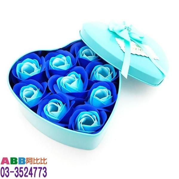 A1310-2_鐵盒玫瑰香皂花_藍_12cm#母親節康乃馨康乃馨花花束玫瑰花香皂花婚禮小物