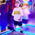 兒童套裝 嘻哈男童街舞套裝少兒寬鬆短袖hiphop演出衣服帥氣兒童街舞服裝潮