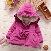 秋冬季女寶寶加厚外套小童棉衣棉服