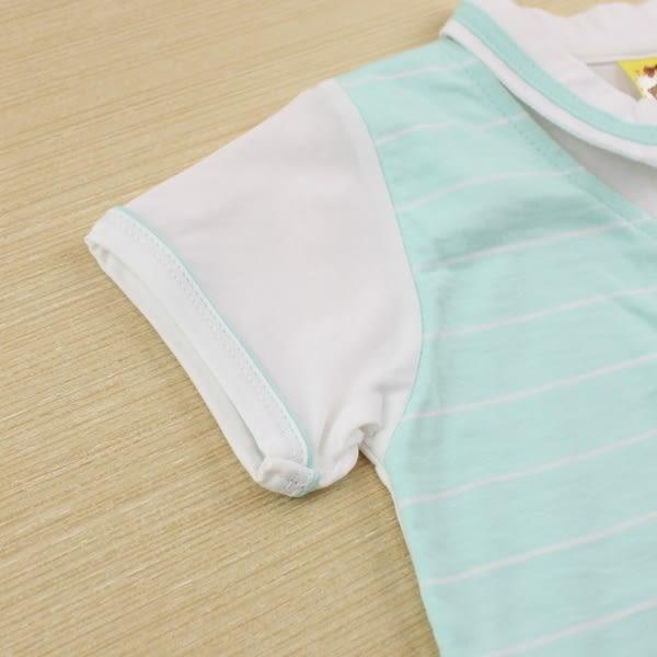 【愛的世界】純棉紳士風POLO短袖連身褲/1~2歲-台灣製- ★幼服推薦 全面五折