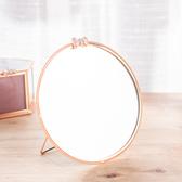 【黑五最後倒數】Brilliant圓形銅雕邊框桌鏡-生活工場