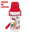 里和家居 Hello Kitty 日本製單手彈蓋直飲水壺480ml 飲料壺 凱蒂貓 隨手杯