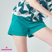 【SHOWCASE】休閒款側拉鍊吊飾修身短褲(綠)