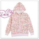 小花花日本精品♥ Hello Kitty 美樂蒂 外套 休閒連帽外套 上衣 粉色 小兔愛心32064001