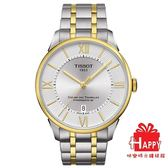 TISSOT 杜魯爾系列 動力儲存80機械腕錶T0994072203800 金x銀