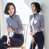 職業白長袖襯衫女秋裝長袖2019年新款外穿氣質正裝工作服上班族襯衣OL PA9952『棉花糖伊人』