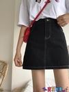 牛仔短裙 牛仔半身裙女夏2021新款小個子黑色包臀裙子高腰顯瘦a字短裙子寶貝計畫 上新