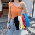吊帶背心女外穿夏季2021新款韓版網紅設計感純色短款針織衫上衣潮 小宅妮