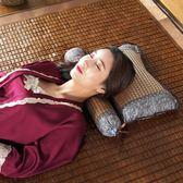 涼席枕頭夏季涼爽蕎麥頸椎枕護頸圓枕頸椎專用單人夏天涼枕頭 創想數位DF