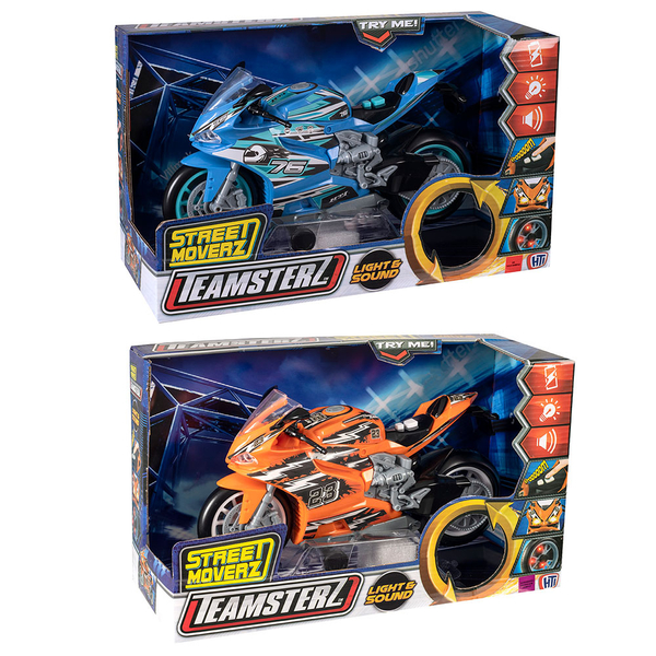 TEAMSTERZ 聲光競速重機 橘/藍(隨機出貨*1)_HT71341