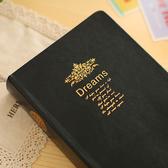 日記本  超厚筆記本子複古歐式空白白紙本手賬本聖經內頁手帳本燙金文藝手杖本簡約