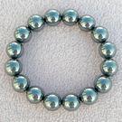 【歡喜心珠寶】【人造鈦赫茲圓珠12mm能量手鍊】共16顆.重約34.5g「附保証書」能量手珠