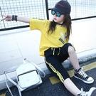 女童裝 新款兒童夏裝韓版時髦套裝洋氣中大...