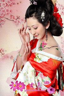 日本民族服/和服/寫真服/紅色