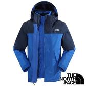 【THE NORTH FACE 美國】男 兩件式GT羽絨外套『怪獸藍』NF00CTS2 保暖外套 兩件式外套 GORE-TEX