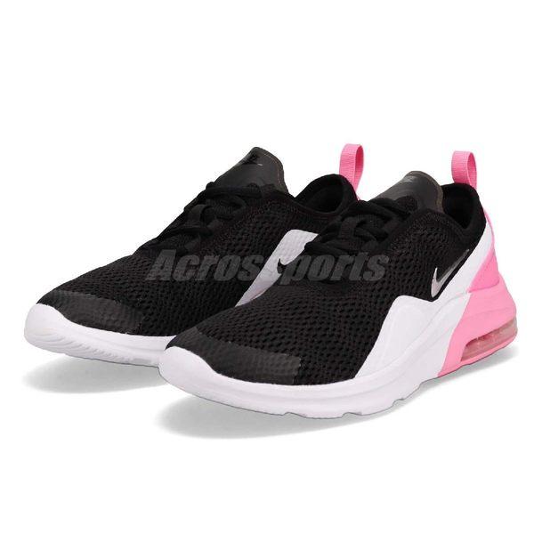 the latest a0d32 c87d4 Nike 慢跑鞋Air Max Motion 2 GS 黑銀粉紅氣墊運動鞋女鞋