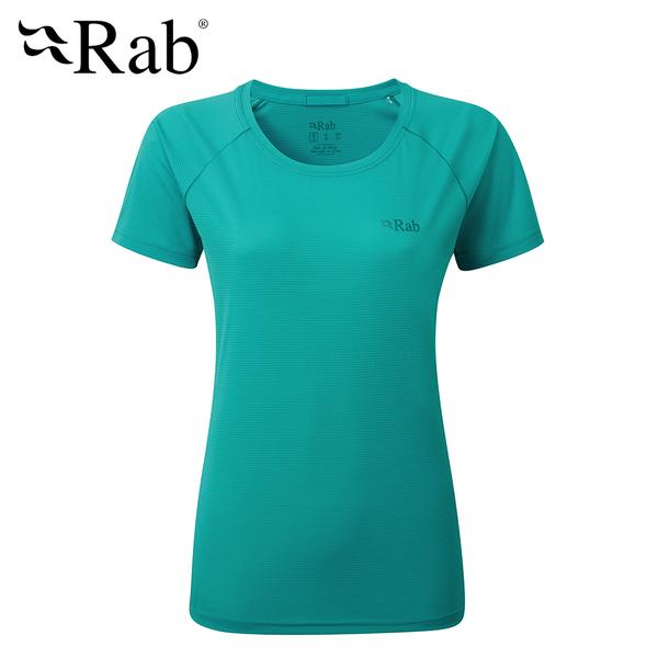 英國 RAB Pluse SS Tee 透氣短袖排汗衣 女款 寧靜藍 #QBU80