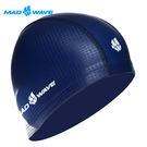 俄羅斯MADWAVE成人專用舒適彈性泳帽TEXTURE-買就送Barracuda矽膠耳塞