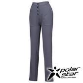 PolarStar 排汗快乾長褲 女『暗灰』 西裝褲│休閒褲│吸濕排汗│直筒褲 P16304