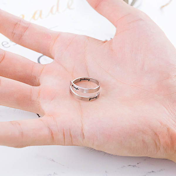 Z.MO鈦鋼屋 白鋼戒指 中性戒指 雙層戒指 型男潮流 不生鏽 男友禮物 情人禮物 單個價【BKS671】