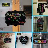 雙面可寫掛式廣告小黑板造型掛牌迷你創意文藝裝飾WIFI提示板門牌吊牌價格標示 英雄聯盟