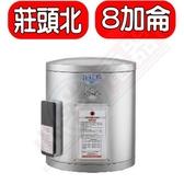 (全省安裝) 莊頭北【TE-1080】 8加侖直掛式儲熱式熱水器
