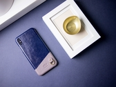 Alto iPhone Xs Max 真皮手機殼背蓋 6.5吋 Anello - 海軍藍 皮革保護套