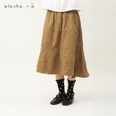 a la sha+a 圓點燒花層次剪接裙