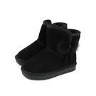 雪靴 靴子 戶外休閒鞋 黑色 童鞋 no110