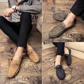 夏季豆豆鞋男士百搭個性社會小伙韓版潮流透氣休閒皮鞋懶人鞋