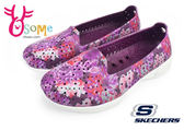 skechers女鞋 水陸鞋 H2 GO系列 花卉 透氣輕量洞洞鞋O8200#紫紅◆OSOME奧森童鞋/小朋友