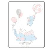 韓國Petit Bird竹纖維嬰幼兒防水保潔床墊—大象家族(65x85cm)
