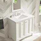 【 麗室衛浴】美國 KOHLER活動促銷 CAXTON® 長方形台下式浴室面盆 K-20414T-0