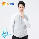 UV100 防曬 抗UV-涼感彈力撞色連...