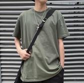 男士短袖 男士百搭潮流純色短袖T恤夏季寬鬆五分袖打底衫韓版