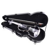 JYC Music SV-300 水晶靜音提琴(藍光/自動換色)~展示品出清 無琴馬/琴盒