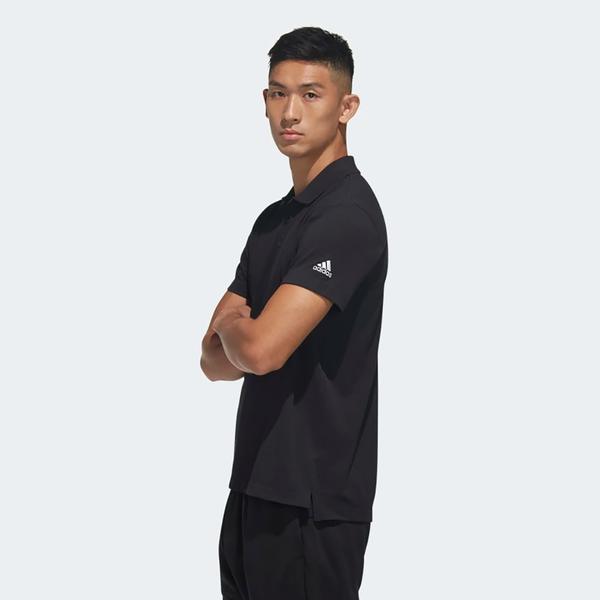 【現貨】ADIDAS MH BSC POLO 男裝 短袖 POLO衫 休閒 吸濕 排汗 黑【運動世界】FM5418