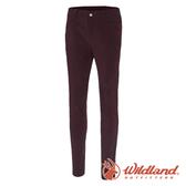 【wildland 荒野】女 彈性透氣抗UV貼身長褲『赭紅』0A71315 戶外 休閒 釣魚 彈性 抗紫外線