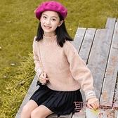 女童毛衣中大兒童套頭打底衫韓版秋冬加絨加厚針織衫【聚可愛】