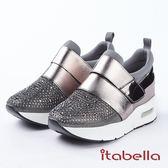 ★2018春夏新品★itabella.休閒時尚 水鑽萊卡休閒鞋(8372-85灰)