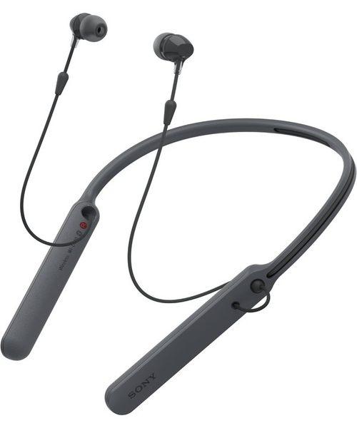 {新安} 原廠公司貨 SONY WI-C400 無線立體聲耳機 藍芽耳機 入耳式 頸掛式 頸環式 NFC 來電震動 (黑)