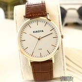 新款韓版時尚簡約手錶女學生休閒大氣真皮帶男錶非機械石英錶   街頭布衣