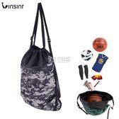 藍球袋 訓練包健身包包學生足球包雙肩包球袋抽繩袋運動包桶包迷彩包 卡菲婭