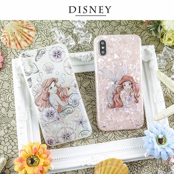 Disney迪士尼iPhone X/Xs五彩貝殼系列手機殼_素描系列