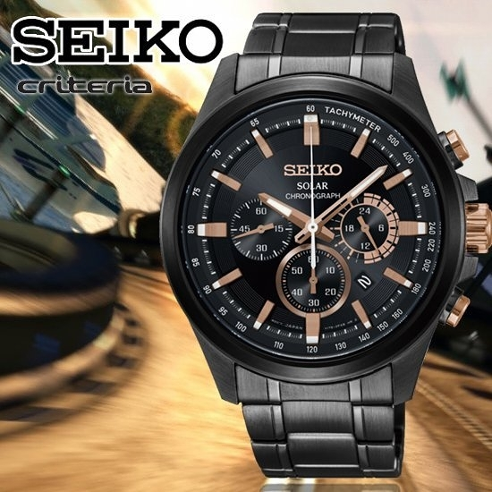 SEIKO日本精工criteria速度傳說太陽能計時腕錶V175-0ER0SD/SSC695P1公司貨