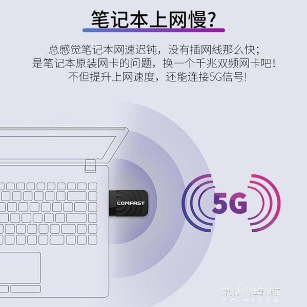 WiFi擴展器-1300M千兆5G雙頻usb3.0無線網卡wifi接收器黑蘋果MAC臺式 現貨快出
