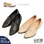 紳士鞋 尖頭素面皮革粗跟鞋- 山打努SANDARU【03A8133#46】
