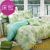 【Novaya‧諾曼亞】《晴冉子》絲光綿加大雙人三件式床包組(藍)