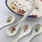 法國熊湯匙-長 兒童餐具 兒童湯匙 美耐皿湯匙 6入組 免運