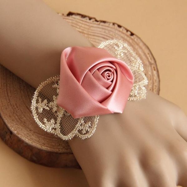 熱銷新品 新娘伴娘婚紗禮服配飾姐妹手腕花蕾絲復古手鏈首飾品學生派對手鐲